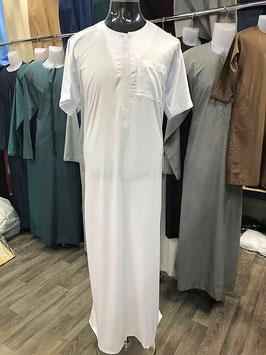Qamis Al Carpal Farbe Weiß  Gewand - Oberteil Kurzärmerlig