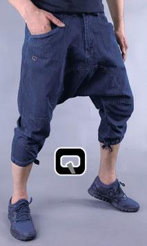 Pantacourt Jeans Farbe Dunkelblau 3/4 Hose