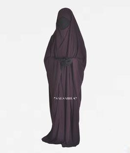 Jilbab Saudi Modell  Einteiler Farbe Dunkellila Kleid