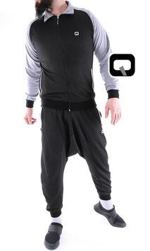 Survetement Origin Jogginganzug Farbe Schwarz-Grau