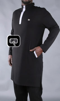 Qamis Court Boss Farbe Schwarz Oberteil Langarm