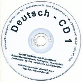 sc01:  CD 1 - Übungen zur Laut-/ Buchstabenstruktur von Wörtern