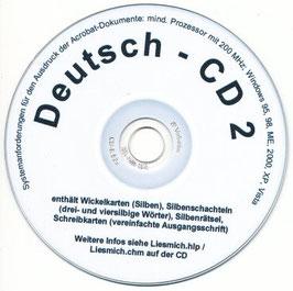 sc02:  CD 2 - Übungen zur Silbenstruktur von Wörtern / Wörter schreiben
