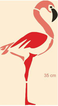 Grand flamant rose