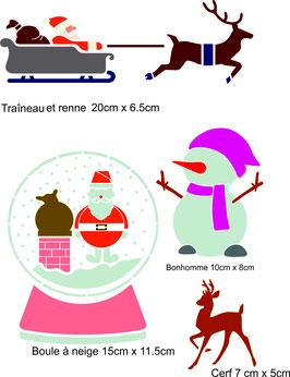 Ensemble 4 motifs Noel