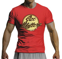 GymTONIX® Herren Motivation T-Shirt mit Size Matters Print