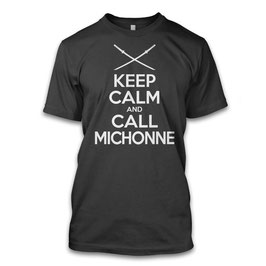 Keep Calm Call Michonne Herren T-Shirt inspired by the Walking Dead