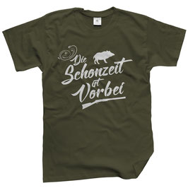 WILDlife® Herren Outdoor T-Shirt mit Die Schonzeit ist vorbei Print