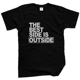 WILDlife® Herren Outdoor T-Shirt mit The Best Side is Outside Print