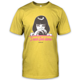 I Said God Damn - Mia Wallace Herren T-Shirt inspired by Pulp Fiction