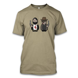 Rick & Carl Cartoon Herren T-Shirt inspired by the Walking Dead