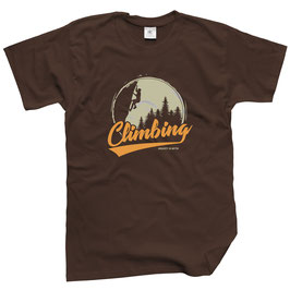 WILDlife® Herren Outdoor T-Shirt mit Climbing - Gravity is a myth Print