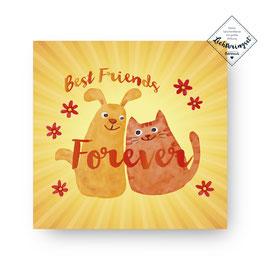 "Geschenkkarte ""Best friends forever"""