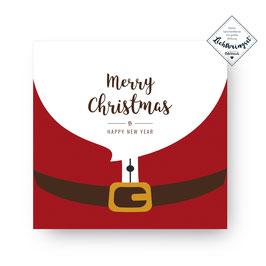 """Geschenkkarte """"Merry Christmas & Happy New Year"""""""