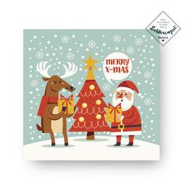 """Geschenkkarte """"Merry X-Mas"""""""