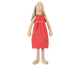 lapine robe rouge - taille 3