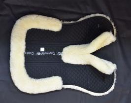 LAMMFELL PAD mit Korrektur Taschen vorne getrennt - Natur