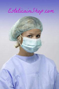 Mascherina a 3 strati con elastici auricolari