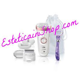 Braun Silk-épil 9 9-870 – Epilatore Oro Rosa Senza Fili Wet&Dry senza fili con 7 accessori