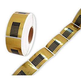 Professional NAIL-FORM Cartine GOLD 500 pz  per allungamento UNGHIE RICOSTRUZIONE CON GEL UV