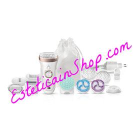 Braun Silk-épil 9 SkinSpa SensoSmart™ 9/961V Wet&Dry Set di Bellezza con Spazzole Esfolianti per il Corpo, Testina Radente e accessorio per il Massaggio Profondo. 12 accessori.