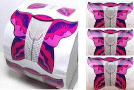 Professional nail form cartine farfalla 500pz per ricostruzione e allungamenti unghie