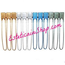 12 Pinze per Capelli Colorate in Metallo