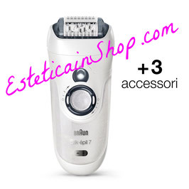Braun Silk-épil 7 SensoSmart 7/531 Wet&Dry con 3 accessori