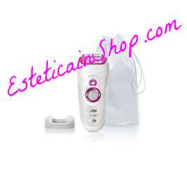 Braun Silk-épil 7 SensoSmart 7/700 Epilatore Rosa senza fili con sistema di epilazione Wet&Dry e 3 accessori