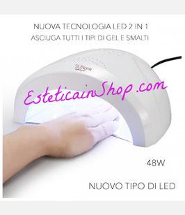 Lampada unghie led 48W 2- IN-1