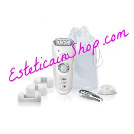 Braun Silk-épil 7 SensoSmart 7/880 Epilatore Argento senza fili con sistema di epilazione Wet&Dry e 7 accessori