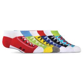 Kid's Sneaker Ankle Socks Six Pair Pack