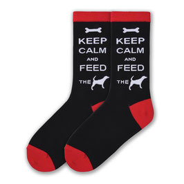 Keep Calm & Feed the Dog Socks