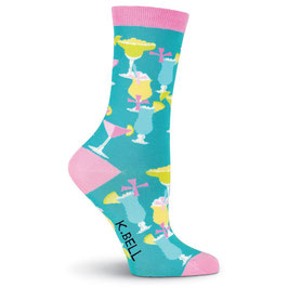 Women's Girly Drinks Crew Socks
