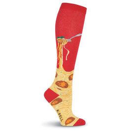 Womens Spaghetti and Meatballs Knee High Socks Women's Spaghetti & Meatballs Knee High Socks