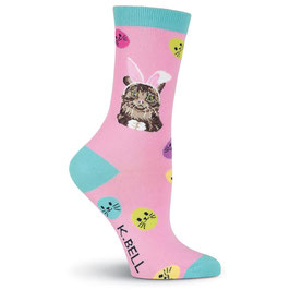 Women's Easter Cat Crew Socks