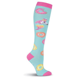 Women's Unicorns Love Donuts Knee High Socks
