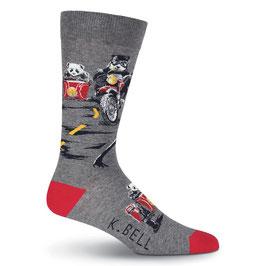 Men's Panda Ride Crew Socks