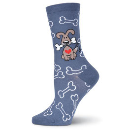 Dog with Bones Crew Socks