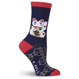 Women's Lucky Cat Crew Socks