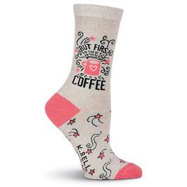 Women's But First Coffee Crew Socks