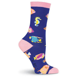 Women's Tropical Fish Crew Socks