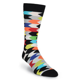 Chevron Stripes Crew Socks