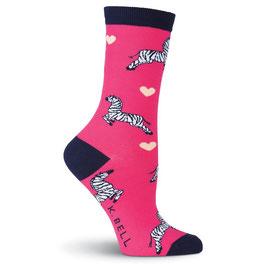 Women's Zebras Crew Socks