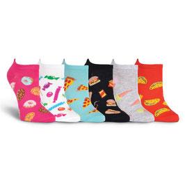 Kid's Junk Food Ankle Socks Six Pair Pack