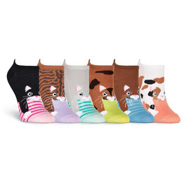 Cats 6 Pair Pack Socks