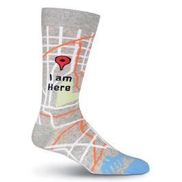 I Am Here Crew Socks