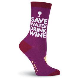 Drink Wine Crew Socks