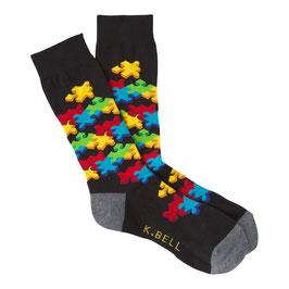 Men's 3D Puzzle Crew Socks