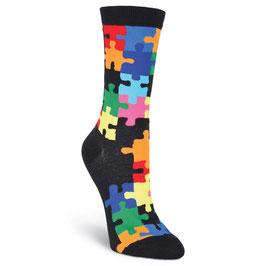 Jigsaw Puzzle Crew Socks